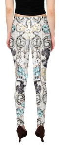 Gold White Money Bling Coins silver turquoise Leggings