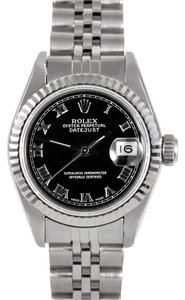 Rolex Rolex Datejust Stainless Steel Black Dial Ladies Watch