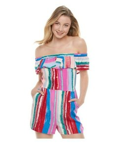 Candie's Striped Summer Spring Colorful Dress
