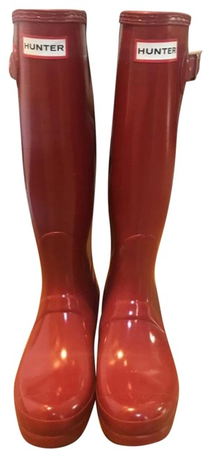 Item - Red Tall Boots/Booties Size US 7 Regular (M, B)