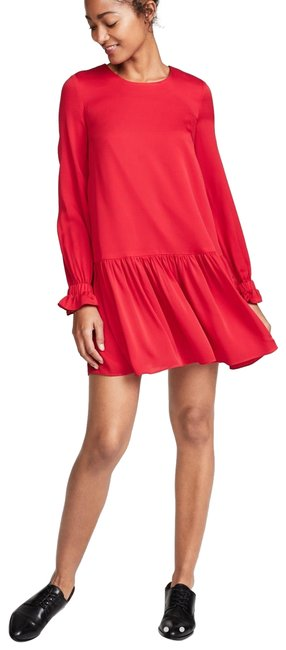 Item - Red - Lipstick Stretch Silk Quinn Color Short Night Out Dress Size 4 (S)