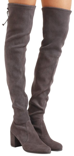 Item - Slate Grey Tieland Over The Knee Boots/Booties Size US 5.5 Regular (M, B)