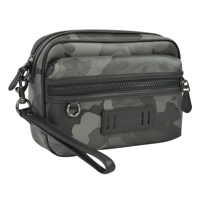 Item - Terrain Signature Camo Camouflage Organizer Black White Coated Canvas Clutch
