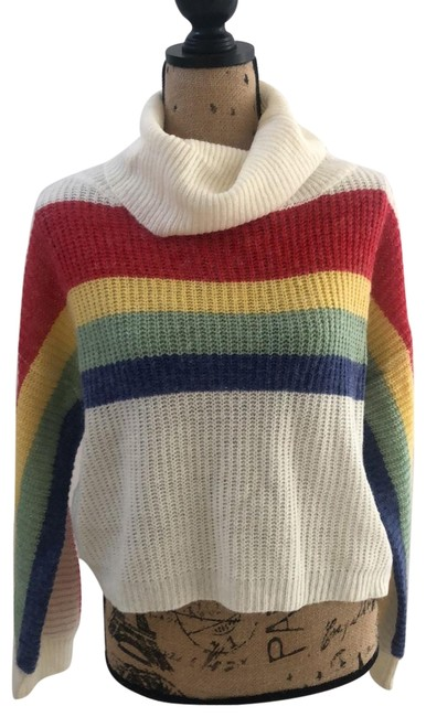 Item - Cowl Neck/Turtleneck White/Off White Red Blue Yellow Green Sweater