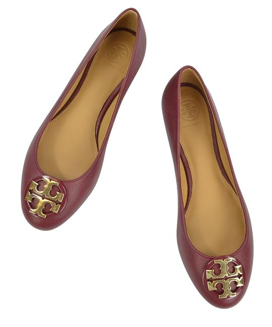 Item - Red Claire Tumble Leather Ballet Flats Size US 7.5 Regular (M, B)