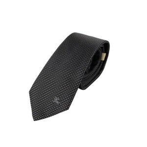 Burberry Black Silk with Grey Dot Pattern and Knight 40022481 Tie/Bowtie