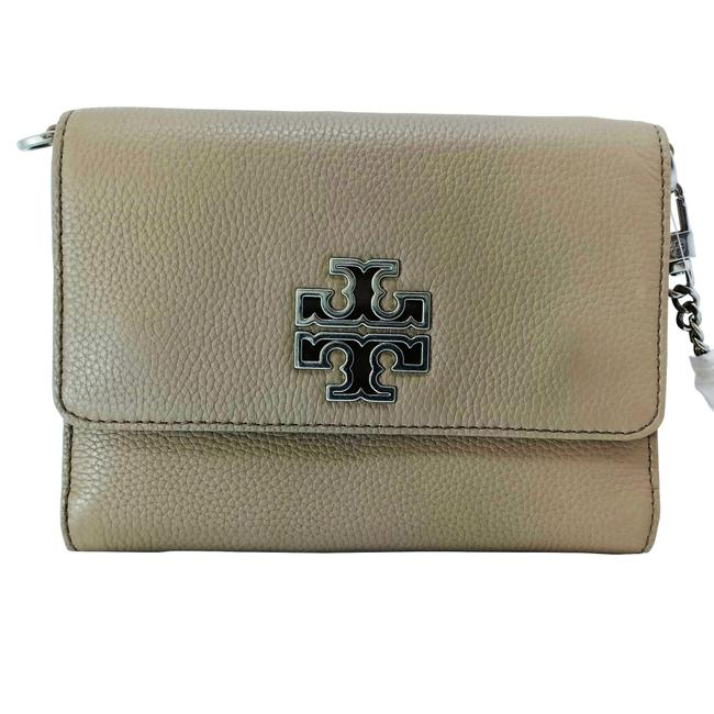Item - Britten Chain Wallet French Gray Leather Shoulder Bag