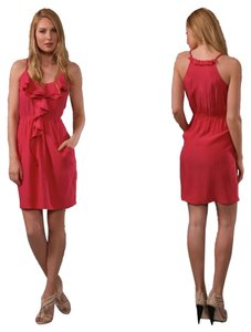 Rebecca Taylor short dress Raspberry Pretty Little Liars Pll Hanna Ashley Benson Pink Silk on Tradesy