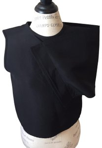 J.W.Anderson Structured Vest Evening Draped Panel Top Black