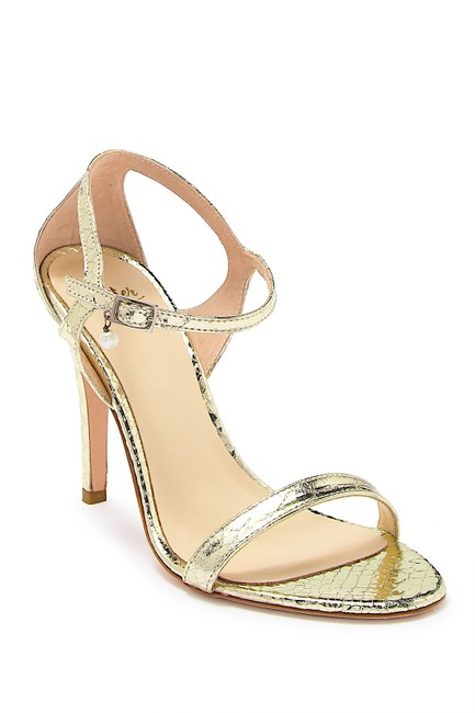 Item - Gold New Haley Leather Ankle Strap Sandal Pumps Size US 7.5 Regular (M, B)