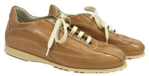 Hogan Leather Lace Sneakers BROWN Flats