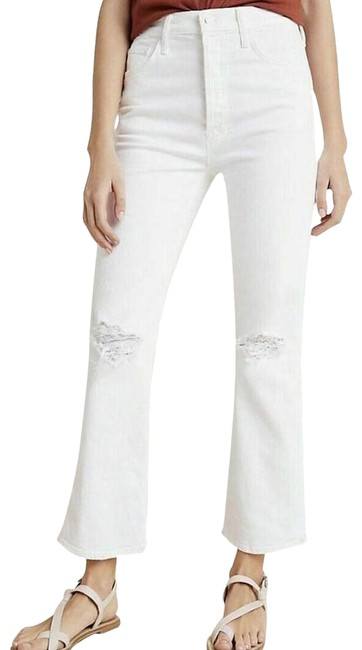 Item - White Mother The Tripper Ultra High-rise Cropped Flare Leg Jeans Size 30 (6, M)