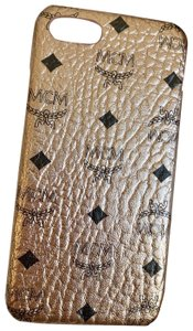 MCM MCM Rose Gold Coated Canvas Iphone 6/7/8 Cell Phone Case