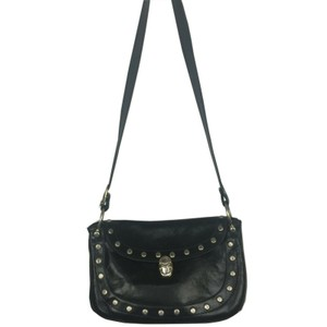 Marino Orlandi Studded Leather Cross Body Bag