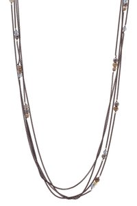 David Yurman David Yurman Multi-Strand Station Necklace - Darkened Silver