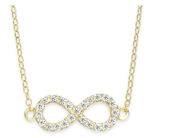 B.Brilliant with BONUS -- TWO Necklaces- Infinity and Sideways Heart