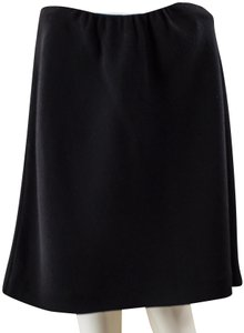 Valentino Wool Flared Knee-length Skirt Black