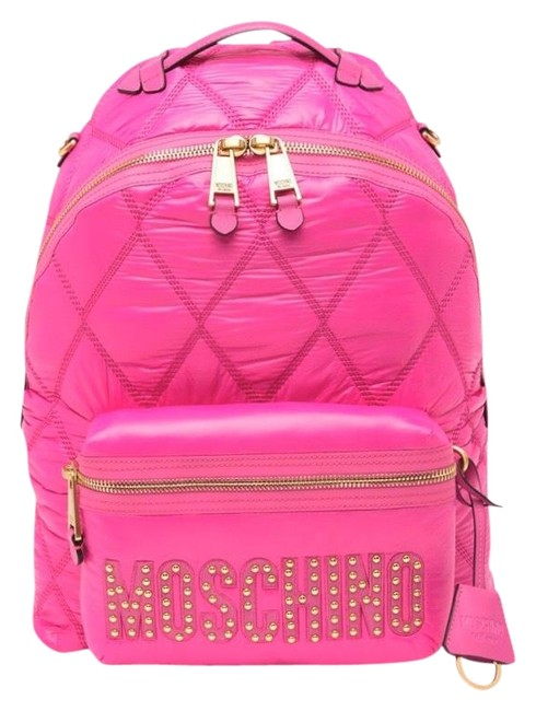 Item - Quilted Signature Fuschia Pink Nylon Backpack