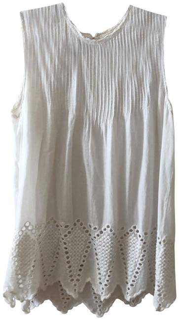 Item - White Cotton Eyelet Sleeveless Blouse Size 2 (XS)