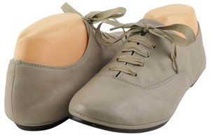 Luxury Rebel Leather Oxford Lace Comfortable Grey Flats