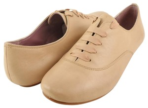 Luxury Rebel Leather Oxford Lace Comfortable Nude Flats