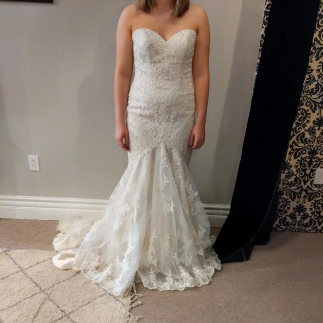 Mori Lee Ivory/Coco Satin Lace 5413 Traditional Wedding Dress Size 12 (L) Mori Lee Ivory/Coco Satin Lace 5413 Traditional Wedding Dress Size 12 (L) Image 1