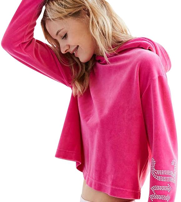 Item - Pink For Uo Gothic Crystal Velour Sweatshirt/Hoodie Size 6 (S)