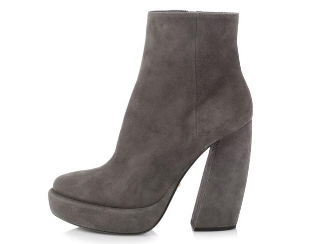 Item - Gray Suede Platform Ankle Boots/Booties Size EU 39 (Approx. US 9) Regular (M, B)