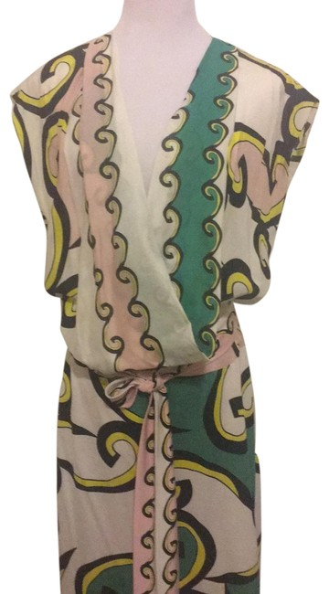 Item - White with Black Green Yellow Pink Design Alessandra D2871186f11 Short Night Out Dress Size 8 (M)