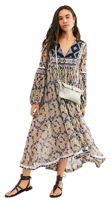 Item - Nude Bold Blooms Mid-length Casual Maxi Dress Size 2 (XS)