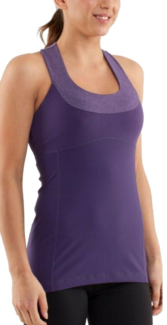 Item - Purple/Gray Scoop Neck and Workout Activewear Top Size 4 (S)