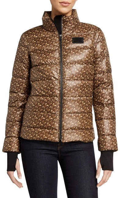 Item - Brown Pattern Pentland Quilted Logo Print Jacket Coat Size 16 (XL, Plus 0x)