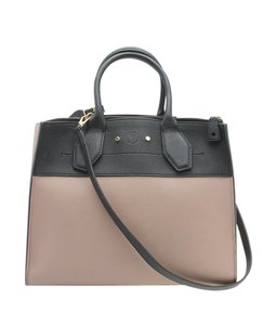 Louis Vuitton Leather Tote in PinkxBlack