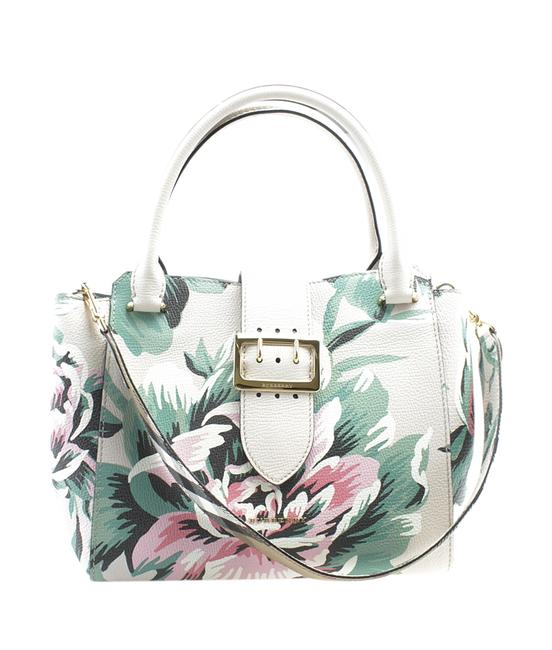 Item - Medium Floral Buckle 2- Way (179549) Multi-color Leather Tote