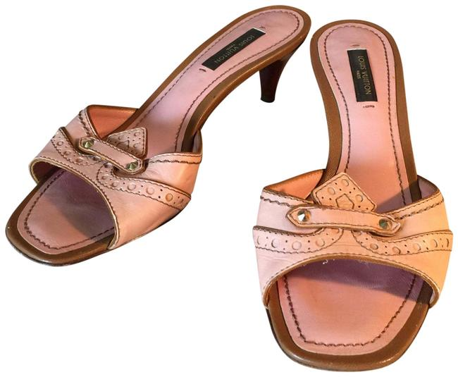 Item - Pink Brown Italy Leather Mules/Slides Size EU 36 (Approx. US 6) Regular (M, B)