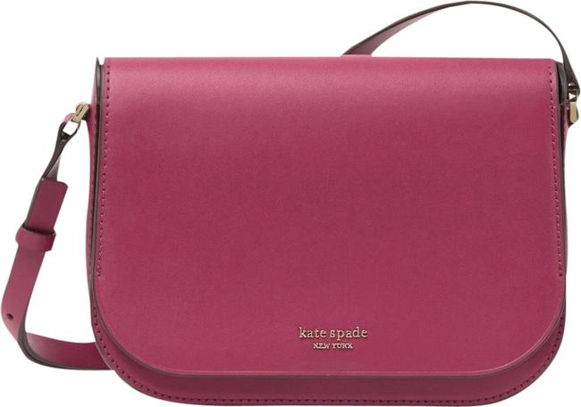 Item - Front Flap Pink Purple Leather Cross Body Bag