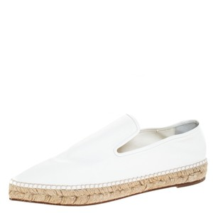 Céline Leather Pointed Toe White Flats