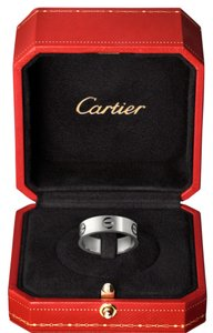 Cartier Cartier 18kt white gold 5.5 wide band women's love ring size 51 or 5.5