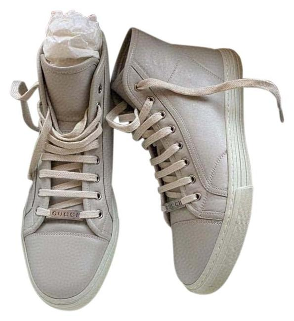 Item - Mystic White Men's 423300 Leather Mirosoft Logo High Top Sneakers Size US 7.5 Regular (M, B)