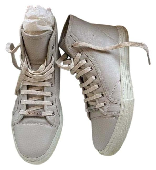 Item - Mystic White Men's 423300 Leather Mirosoft Logo High Top Sneakers Size US 8 Regular (M, B)