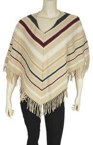Burberry Burberry Beige Multicolor Striped Wool Shawl (178995)