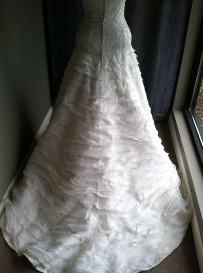 Silk White Nina Modern Wedding Dress Size 6 (S)