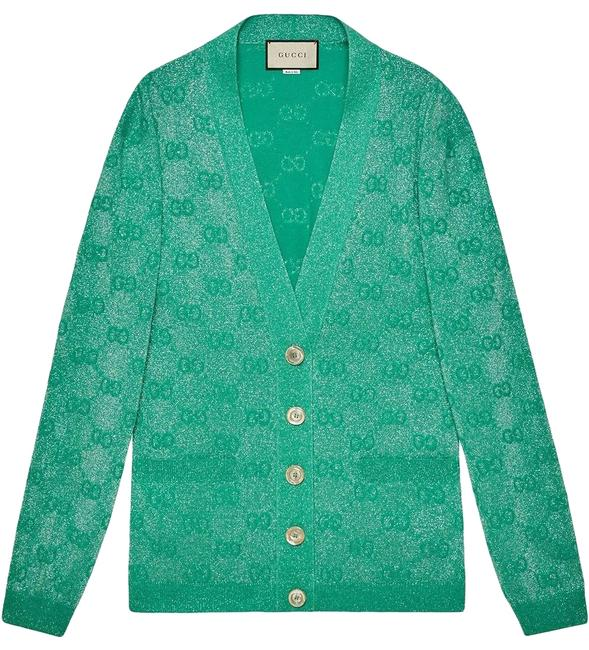 Item - Mint Green Gr Gg Sparkling Cardigan Size 8 (M)