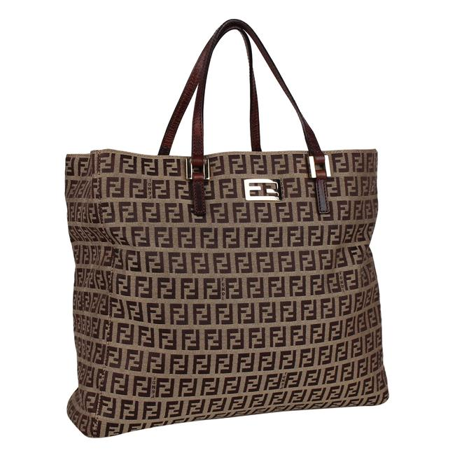 Item - Shopping Monogram Purse Brown/Beige Canvas/Leather 8194 Brown Nylon Tote