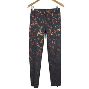 D. EXTERIOR Brocade Elastic Waists Designer Trouser Pants Gray, Metallic