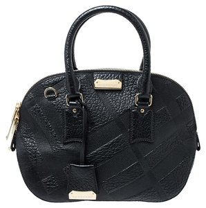 Burberry Leather Satchel in Black