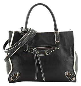Balenciaga Leather Satchel in black