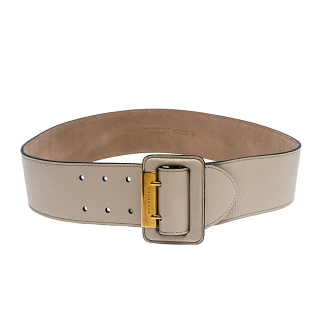 Item - Beige Leather Cecile Waist 95cm Belt