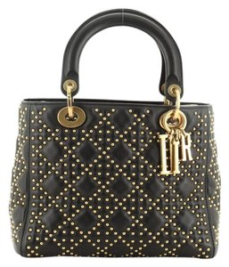 Christian Dior Leather Satchel in Black