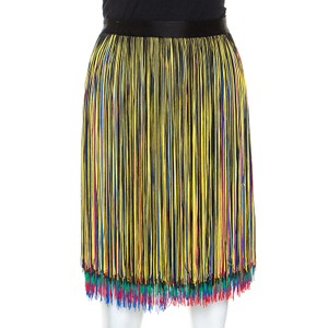 Christopher Kane Skirt Black/Rainbow Fringe